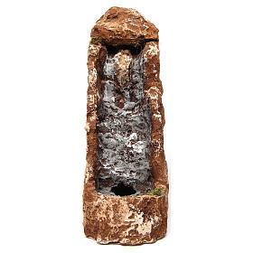 Ruscello con cascata 25x10x30 cm resina presepe napoletano s1
