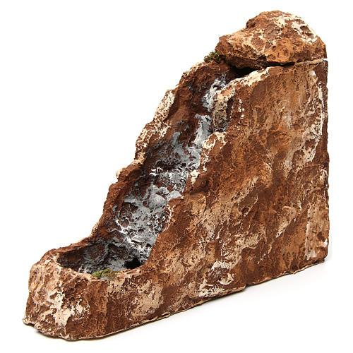 Ruscello con cascata 25x10x30 cm resina presepe napoletano 2