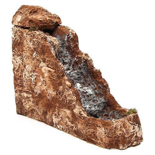 Ruscello con cascata 25x10x30 cm resina presepe napoletano 3