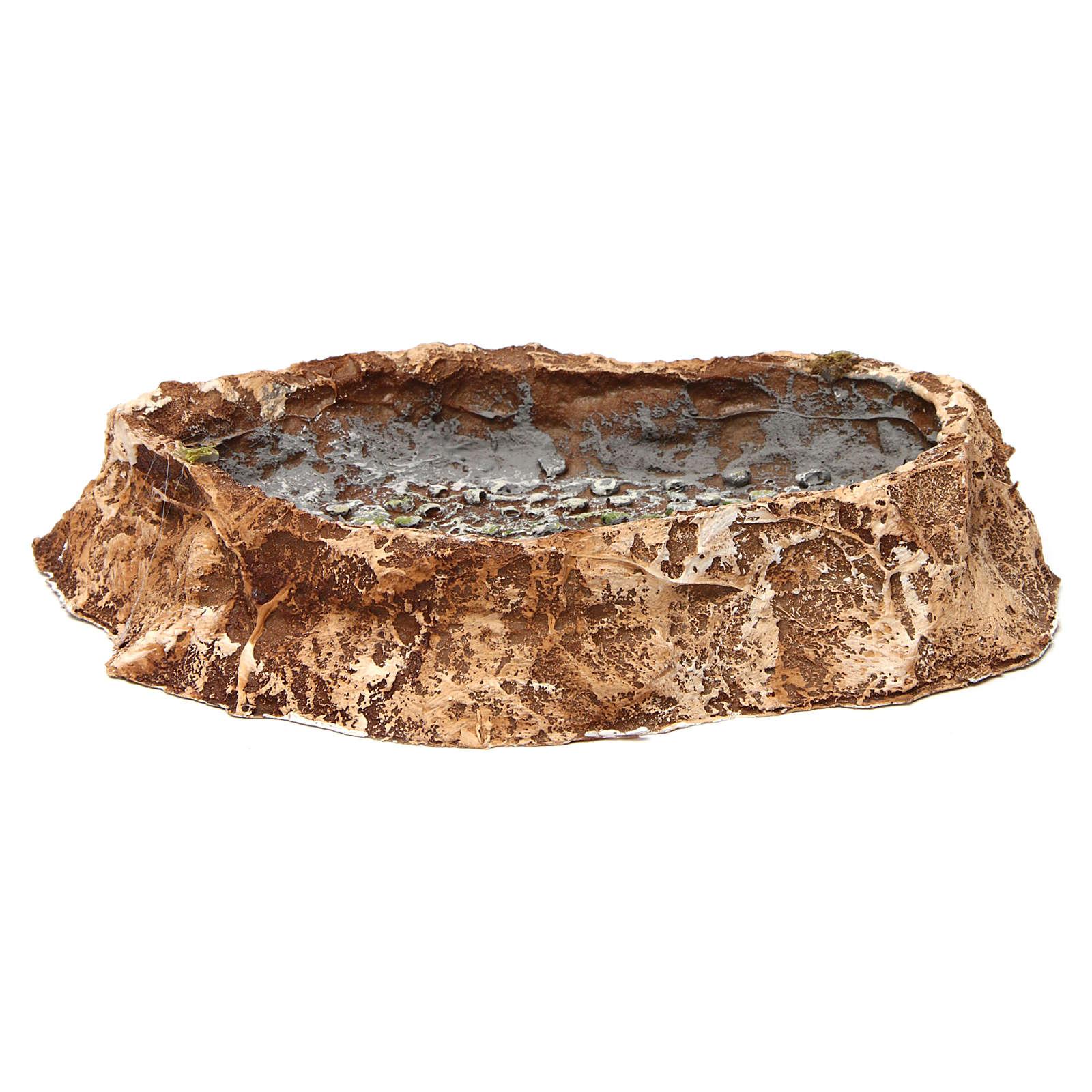 Lago con piedras 5x25x20 cm resina belén napolitano 4