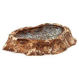 Lago con piedras 5x25x20 cm resina belén napolitano s3