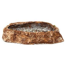 Laghetto con sassi 5x25x20 cm resina presepe napoletano s4