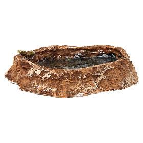 Laghetto con effetto acqua 5x25x20 cm resina presepe napoletano s1