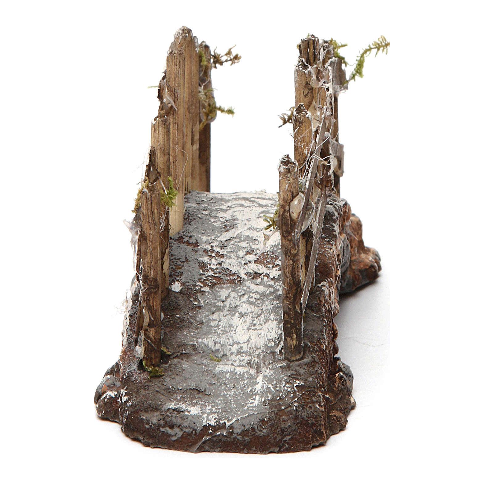 Bridge in wood and resin for Neapolitan Nativity Scene 10x15x5 4