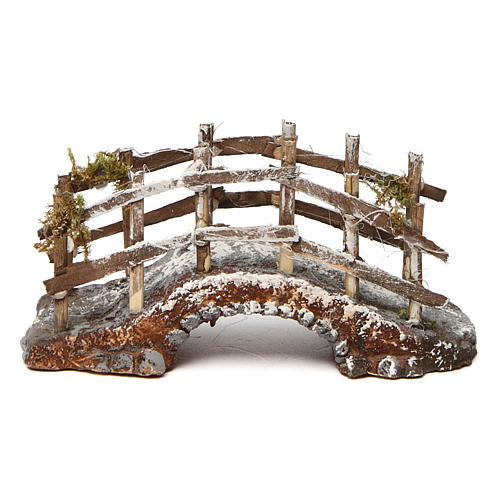 Bridge in wood and resin for Neapolitan Nativity Scene 10x15x5 1