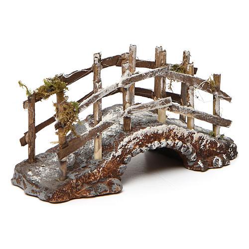 Bridge in wood and resin for Neapolitan Nativity Scene 10x15x5 2
