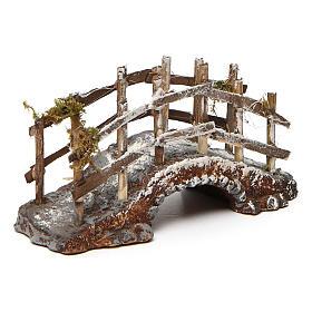 Puente de resina y madera 10x15x5 cm belén napolitano s2