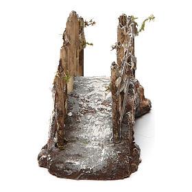 Puente de resina y madera 10x15x5 cm belén napolitano s4