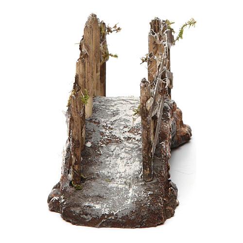 Pont en résine et bois 10x15x5 cm crèche napolitaine 4