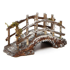 Bridge in Resin and Wood 10x15x5 cm Neapolitan nativity s2