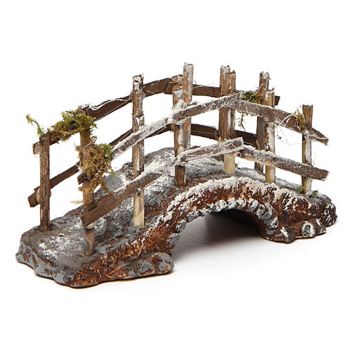 Bridge in Resin and Wood 10x15x5 cm Neapolitan nativity 2