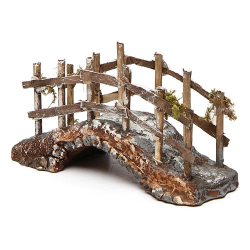 Bridge in Resin and Wood 10x15x5 cm Neapolitan nativity 3