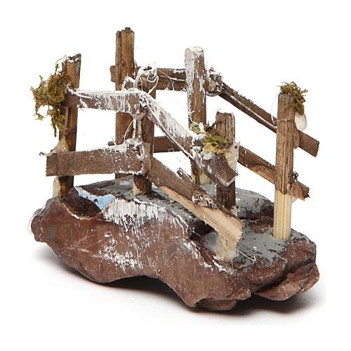 Puente de madera y resina 5x10x5 belén napolitano 2