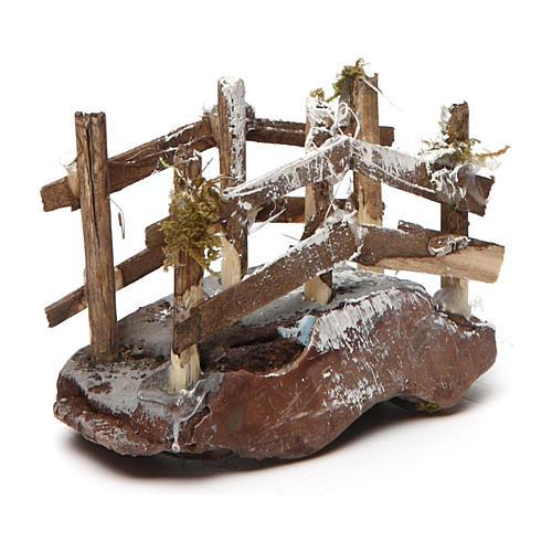 Puente de madera y resina 5x10x5 belén napolitano 3