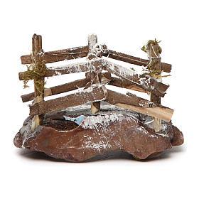 Ponticello in legno e resina 5x10x5 presepe napoletano s1