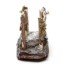 Ponticello in legno e resina 5x10x5 presepe napoletano s4