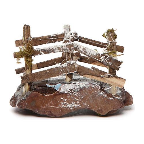 Ponticello in legno e resina 5x10x5 presepe napoletano 1