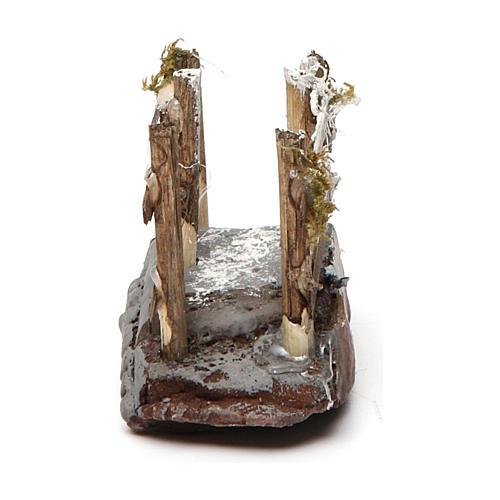 Ponticello in legno e resina 5x10x5 presepe napoletano 4
