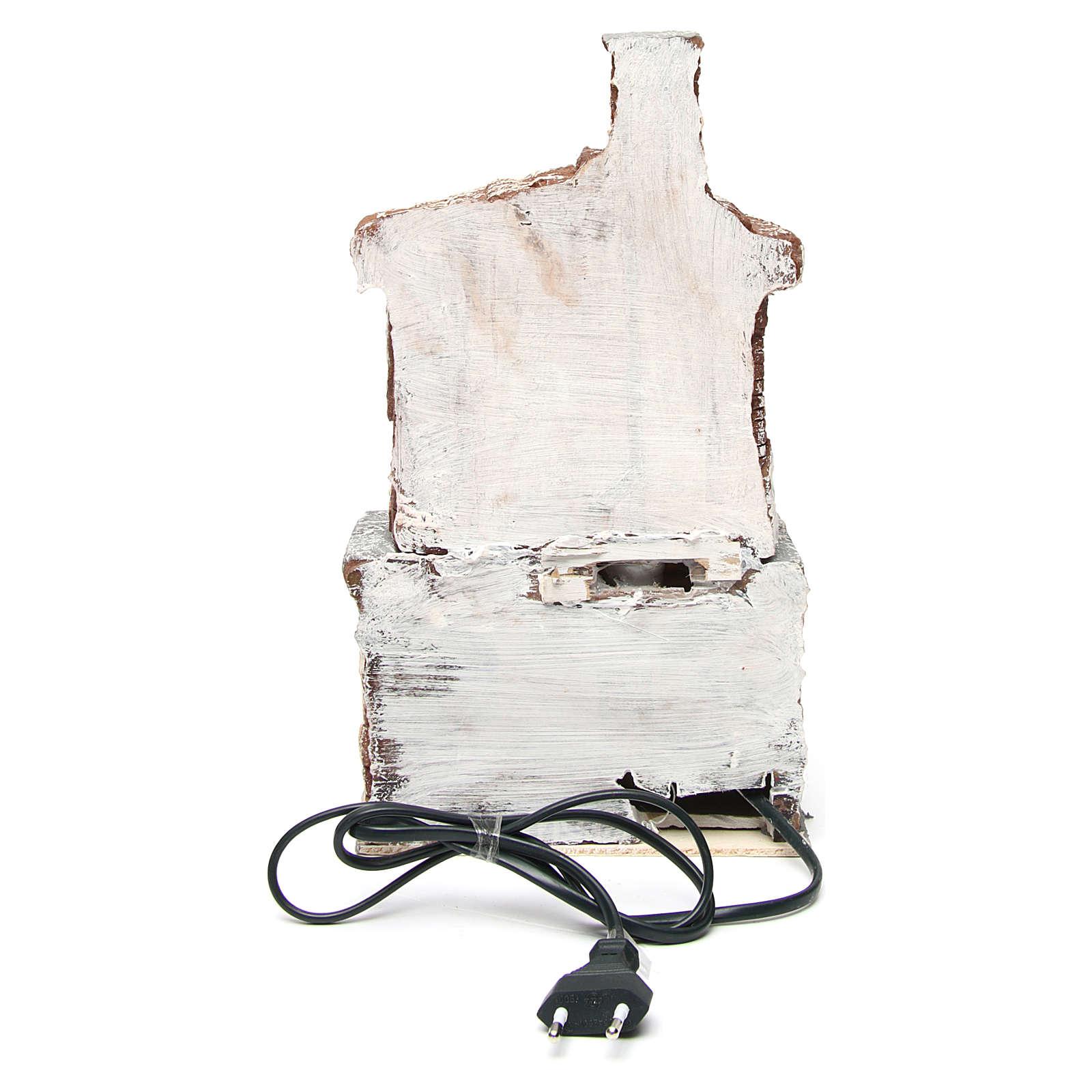 Horno de resina con bombilla 30x15x10 cm belén napolitano 4