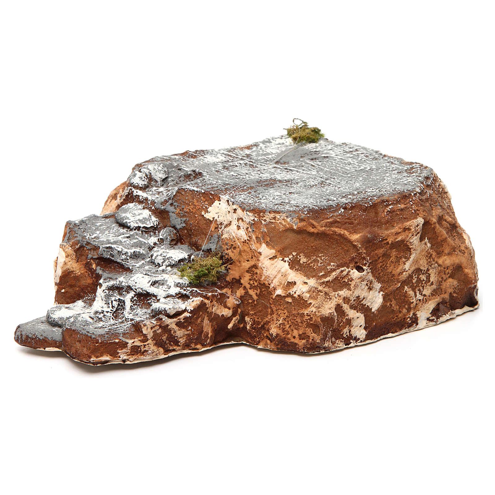 Ambientación base con escalera de resina 5x15x20 cm belén napolitano 4