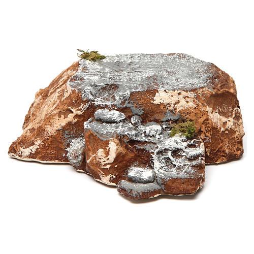 Ambientación base con escalera de resina 5x15x20 cm belén napolitano 1