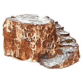 Ambientación base con escalera con curva de resina 10x15x20 cm belén napolitano s3