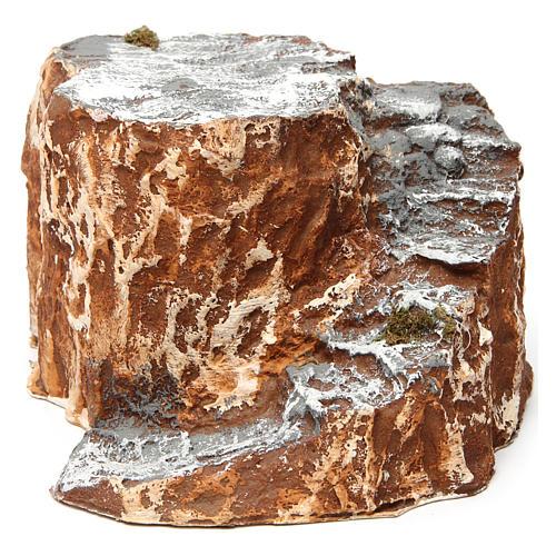 Ambientación base con escalera con curva de resina 10x15x20 cm belén napolitano 1