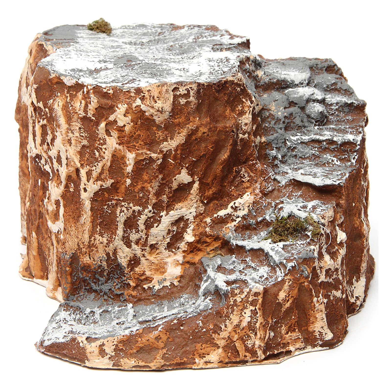 Ambiente base con scala con tornanti in resina 10x15x20 cm presepe napoletano 4