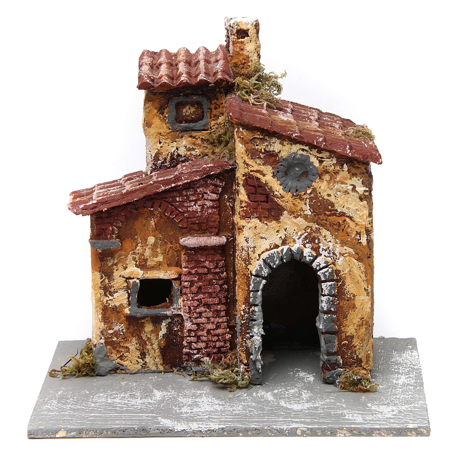 Haus für Krippe mit Bogen 15x15x15cm neapolitanische Krippe 4