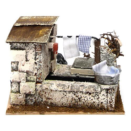 Fontaine avec pompe 20x14x17 cm crèche 1