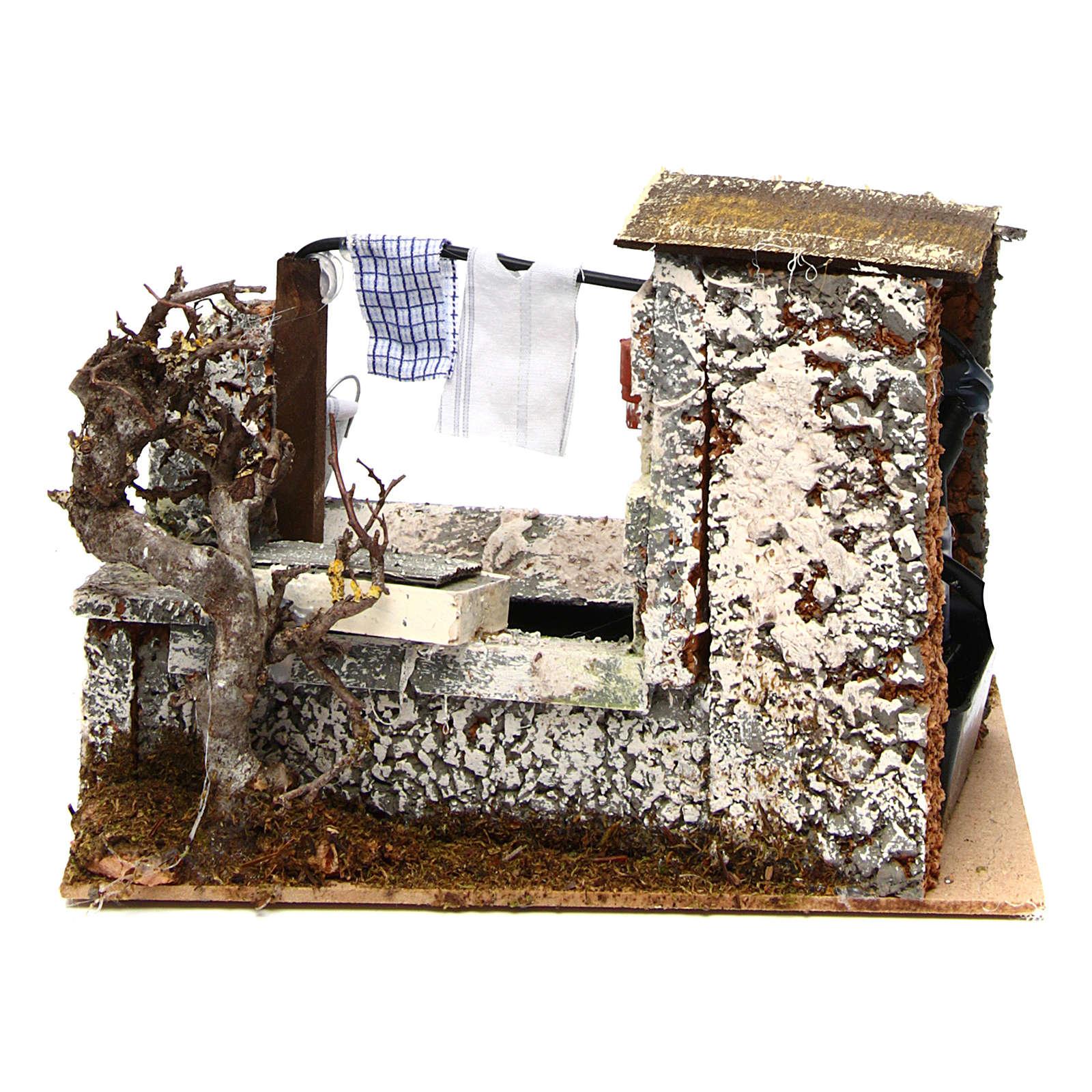 White Fountain with Pump 20x14x17 cm Nativity 4