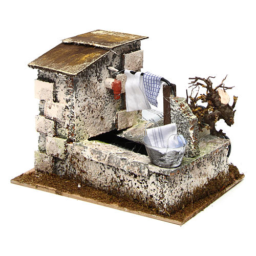 White Fountain with Pump 20x14x17 cm Nativity 2