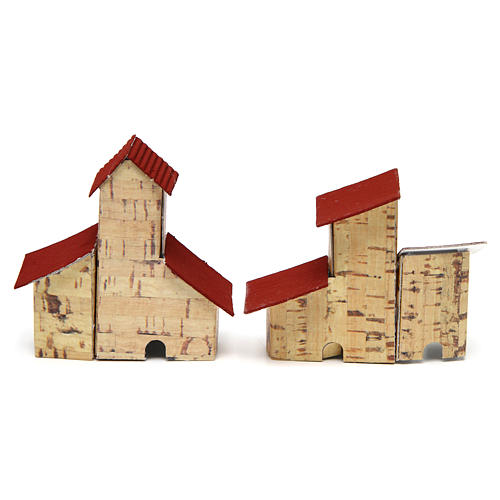 Nativity Scene houses 2 pieces 6.5x4x7 cm 2