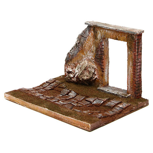 Joinable road part with door for Nativity Scene 12 cm 2
