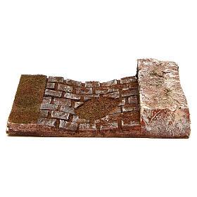 Trecho de calle con pared para belén 12 cm de altura media s4