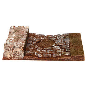 Joinable road with wall for Nativity Scene 12 cm s1
