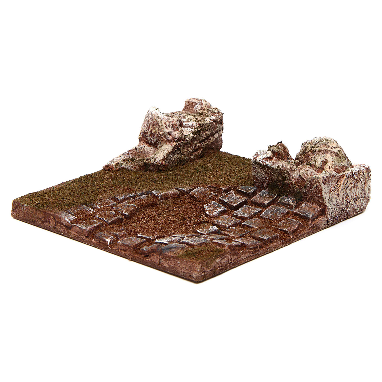 Modular road with bend and rocks 10 cm 4