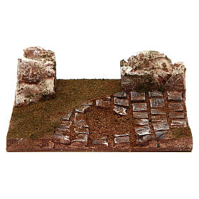 Modular road with bend and rocks 10 cm s1