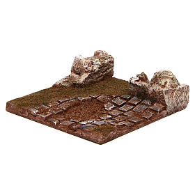 Modular road with bend and rocks 10 cm s2