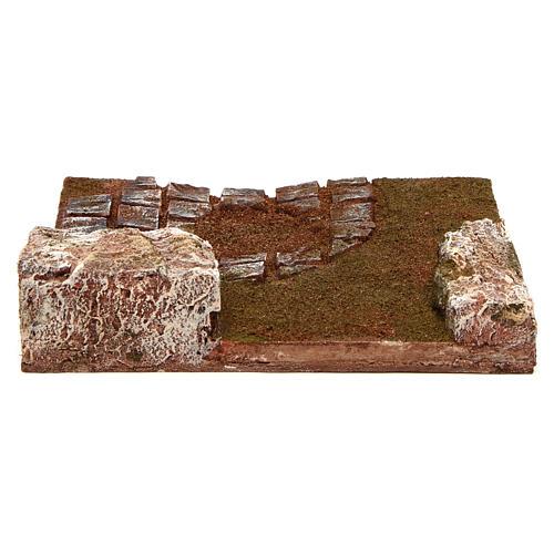 Route à composer virage avec rochers 12 cm 4