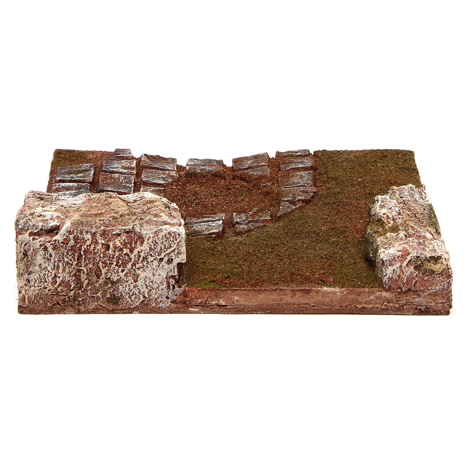 Joinable bended road part with rocks for Nativity Scene 12 cm 4