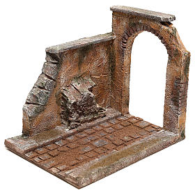 Joinable road part with arch for Nativity Scene 10 cm s2