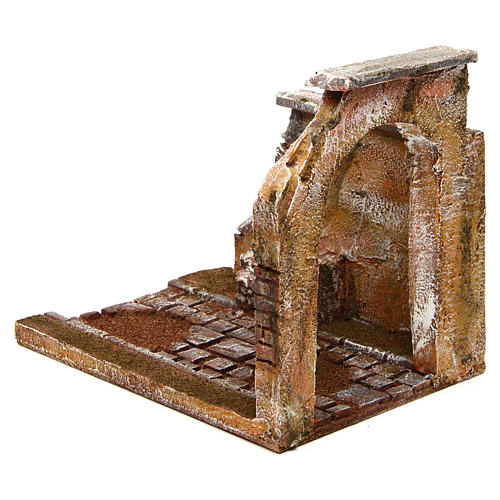 Joinable road part with arch for Nativity Scene 10 cm 2