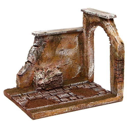Joinable road part with arch for Nativity Scene 10 cm 3
