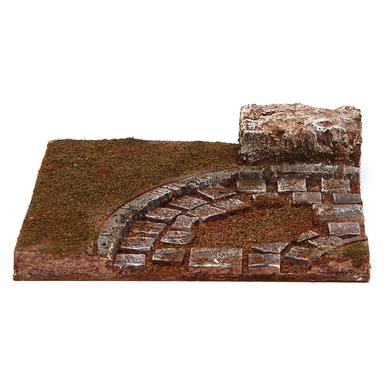 Joinable road with bend for Nativity scene 10 cm 4