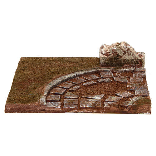 Joinable road with bend for Nativity scene 12 cm 1