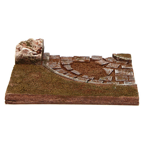 Joinable road with bend for Nativity scene 12 cm 4