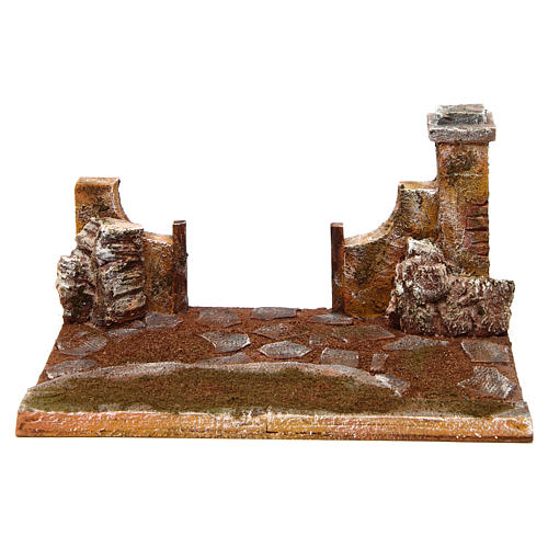 Joinable road part with pillar for Nativity scene 12 cm 1