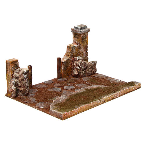 Joinable road part with pillar for Nativity scene 12 cm 3