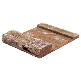 Ligne droite avec rocher crèche 12 cm s3